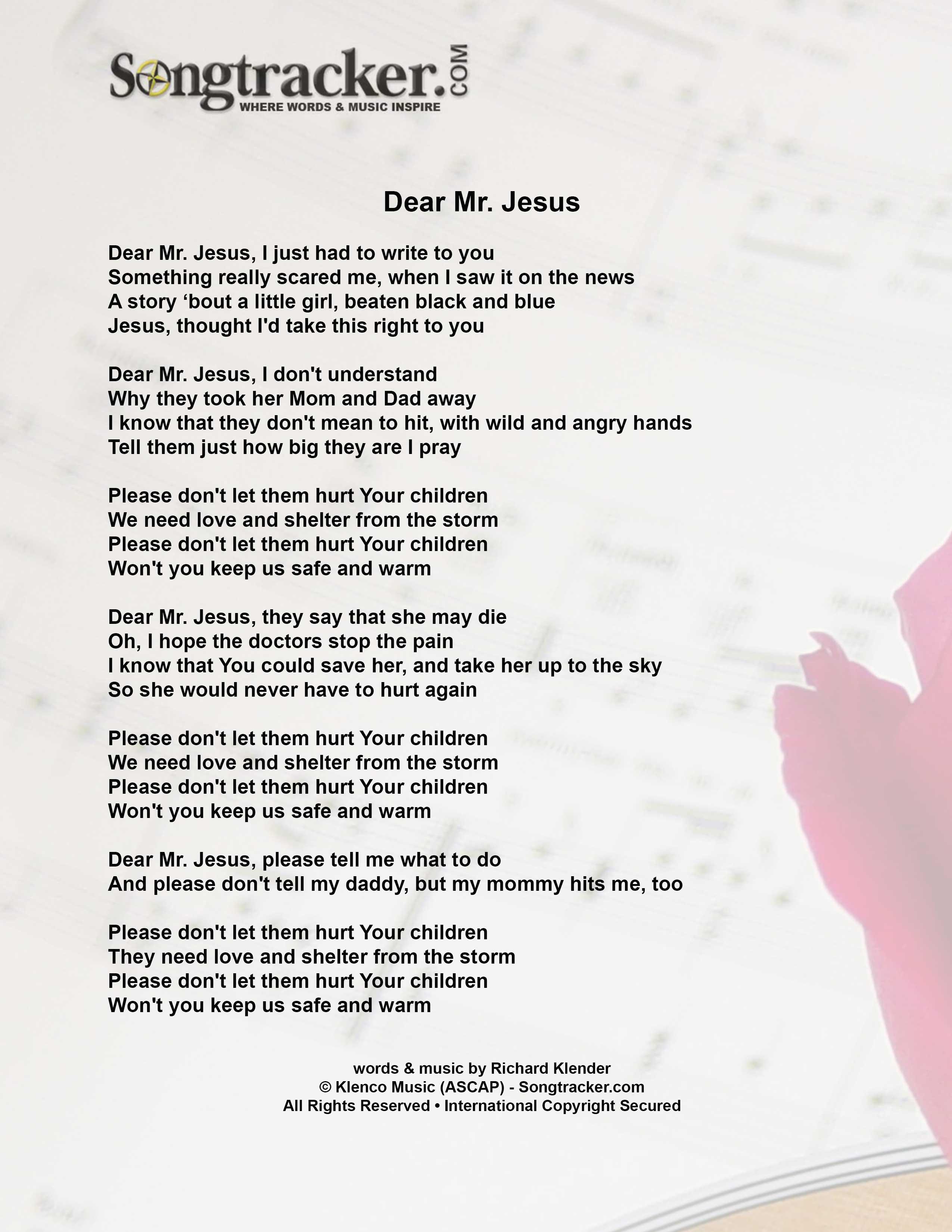 dear mr  jesus